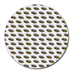 Wasp Bee Eye Fly Line Animals Round Mousepads