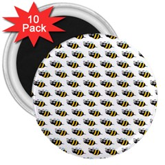 Wasp Bee Eye Fly Line Animals 3  Magnets (10 pack)