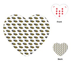 Wasp Bee Eye Fly Line Animals Playing Cards (Heart)