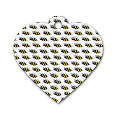 Wasp Bee Eye Fly Line Animals Dog Tag Heart (Two Sides)