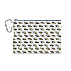 Wasp Bee Eye Fly Line Animals Canvas Cosmetic Bag (m)