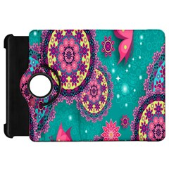 Vintage Butterfly Floral Flower Rose Star Purple Pink Green Yellow Animals Fly Kindle Fire HD 7