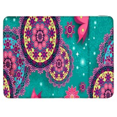 Vintage Butterfly Floral Flower Rose Star Purple Pink Green Yellow Animals Fly Samsung Galaxy Tab 7  P1000 Flip Case