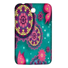 Vintage Butterfly Floral Flower Rose Star Purple Pink Green Yellow Animals Fly Samsung Galaxy Tab 3 (7 ) P3200 Hardshell Case