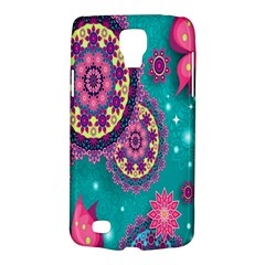 Vintage Butterfly Floral Flower Rose Star Purple Pink Green Yellow Animals Fly Galaxy S4 Active