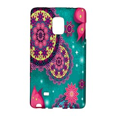 Vintage Butterfly Floral Flower Rose Star Purple Pink Green Yellow Animals Fly Galaxy Note Edge