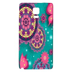 Vintage Butterfly Floral Flower Rose Star Purple Pink Green Yellow Animals Fly Galaxy Note 4 Back Case