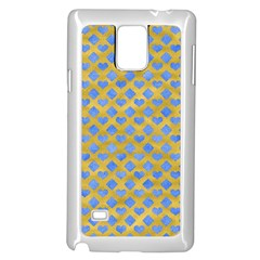 Diamond Heart Card Valentine Love Blue Yellow Gold Samsung Galaxy Note 4 Case (white)