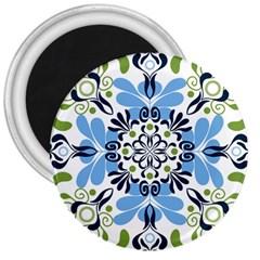 Flower Floral Jpeg 3  Magnets
