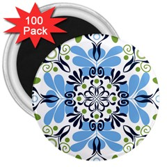 Flower Floral Jpeg 3  Magnets (100 pack)