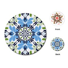 Flower Floral Jpeg Playing Cards (Round)