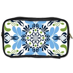 Flower Floral Jpeg Toiletries Bags 2 Side