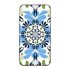 Flower Floral Jpeg Apple iPhone 4/4s Seamless Case (Black)