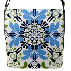 Flower Floral Jpeg Flap Messenger Bag (S)