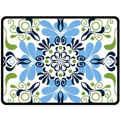 Flower Floral Jpeg Double Sided Fleece Blanket (Large)