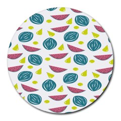 Summer Fruit Watermelon Water Guava Onions Round Mousepads
