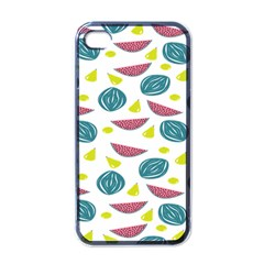Summer Fruit Watermelon Water Guava Onions Apple iPhone 4 Case (Black)