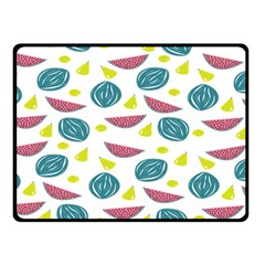 Summer Fruit Watermelon Water Guava Onions Double Sided Fleece Blanket (small)