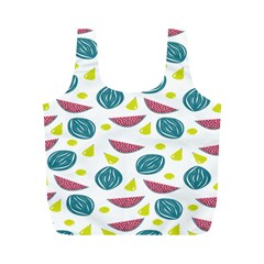 Summer Fruit Watermelon Water Guava Onions Full Print Recycle Bags (M)
