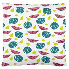 Summer Fruit Watermelon Water Guava Onions Large Flano Cushion Case (Two Sides)