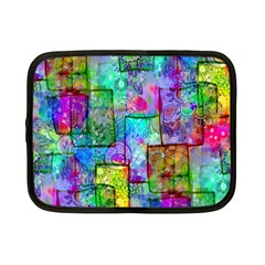 Rainbow Floral Doodle Netbook Case (Small)