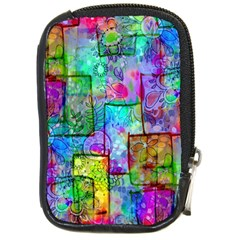 Rainbow Floral Doodle Compact Camera Cases