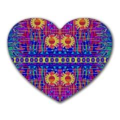 Festive Decorative Moonshine Heart Mousepads