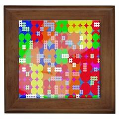 Abstract Polka Dot Pattern Framed Tiles