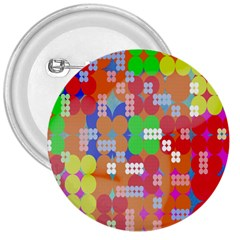 Abstract Polka Dot Pattern 3  Buttons