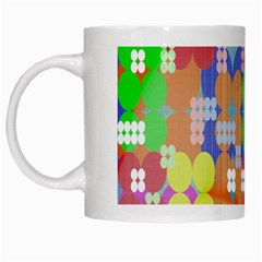 Abstract Polka Dot Pattern White Mugs
