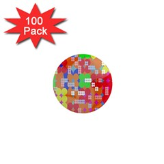 Abstract Polka Dot Pattern 1  Mini Magnets (100 pack)