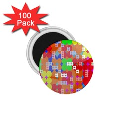 Abstract Polka Dot Pattern 1.75  Magnets (100 pack)