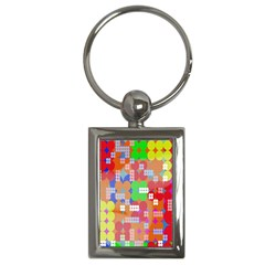 Abstract Polka Dot Pattern Key Chains (Rectangle)
