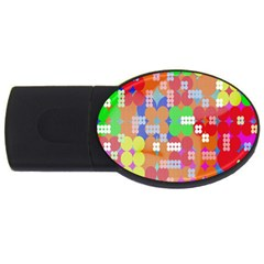 Abstract Polka Dot Pattern USB Flash Drive Oval (4 GB)