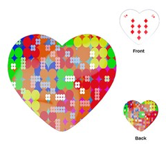 Abstract Polka Dot Pattern Playing Cards (Heart)