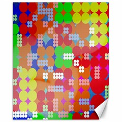 Abstract Polka Dot Pattern Canvas 16  x 20