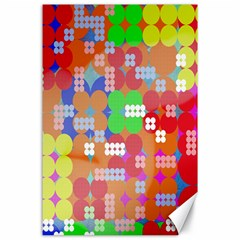 Abstract Polka Dot Pattern Canvas 24  x 36