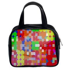 Abstract Polka Dot Pattern Classic Handbags (2 Sides)