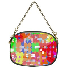 Abstract Polka Dot Pattern Chain Purses (One Side)