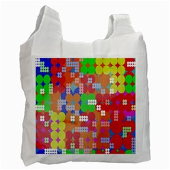 Abstract Polka Dot Pattern Recycle Bag (Two Side)