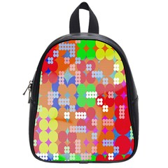 Abstract Polka Dot Pattern School Bags (Small)