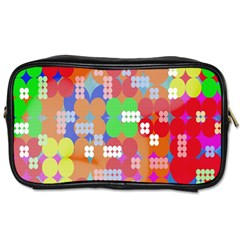 Abstract Polka Dot Pattern Toiletries Bags 2 Side