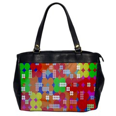 Abstract Polka Dot Pattern Office Handbags