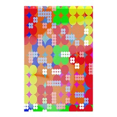 Abstract Polka Dot Pattern Shower Curtain 48  x 72  (Small)