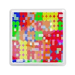 Abstract Polka Dot Pattern Memory Card Reader (Square)