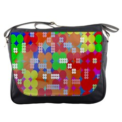 Abstract Polka Dot Pattern Messenger Bags