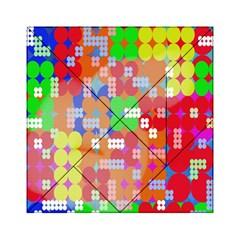 Abstract Polka Dot Pattern Acrylic Tangram Puzzle (6  x 6 )