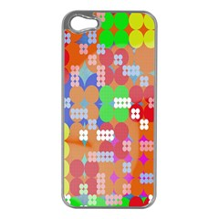Abstract Polka Dot Pattern Apple iPhone 5 Case (Silver)