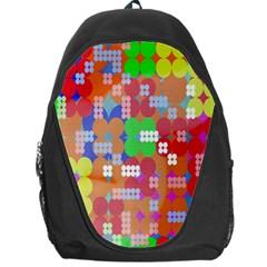 Abstract Polka Dot Pattern Backpack Bag