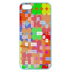 Abstract Polka Dot Pattern Apple Seamless iPhone 5 Case (Color)
